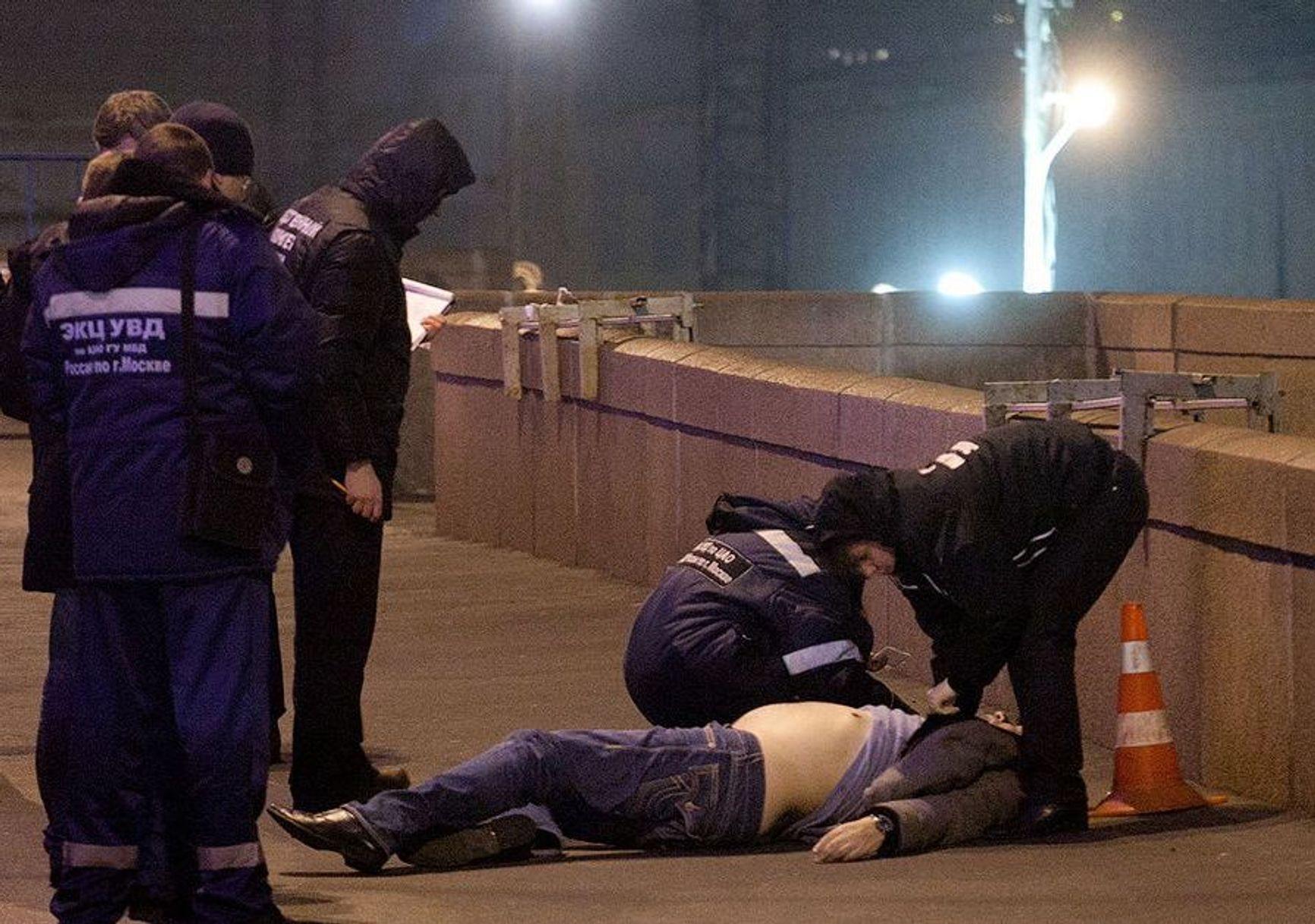 На мосту в ночь убийства Немцова