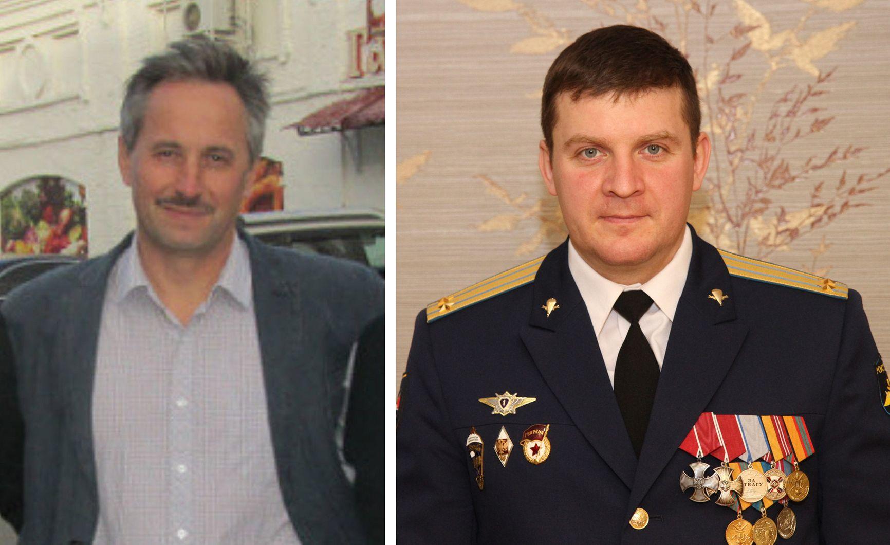 Генерал Аверьянов (слева) и Егор Гордиенко