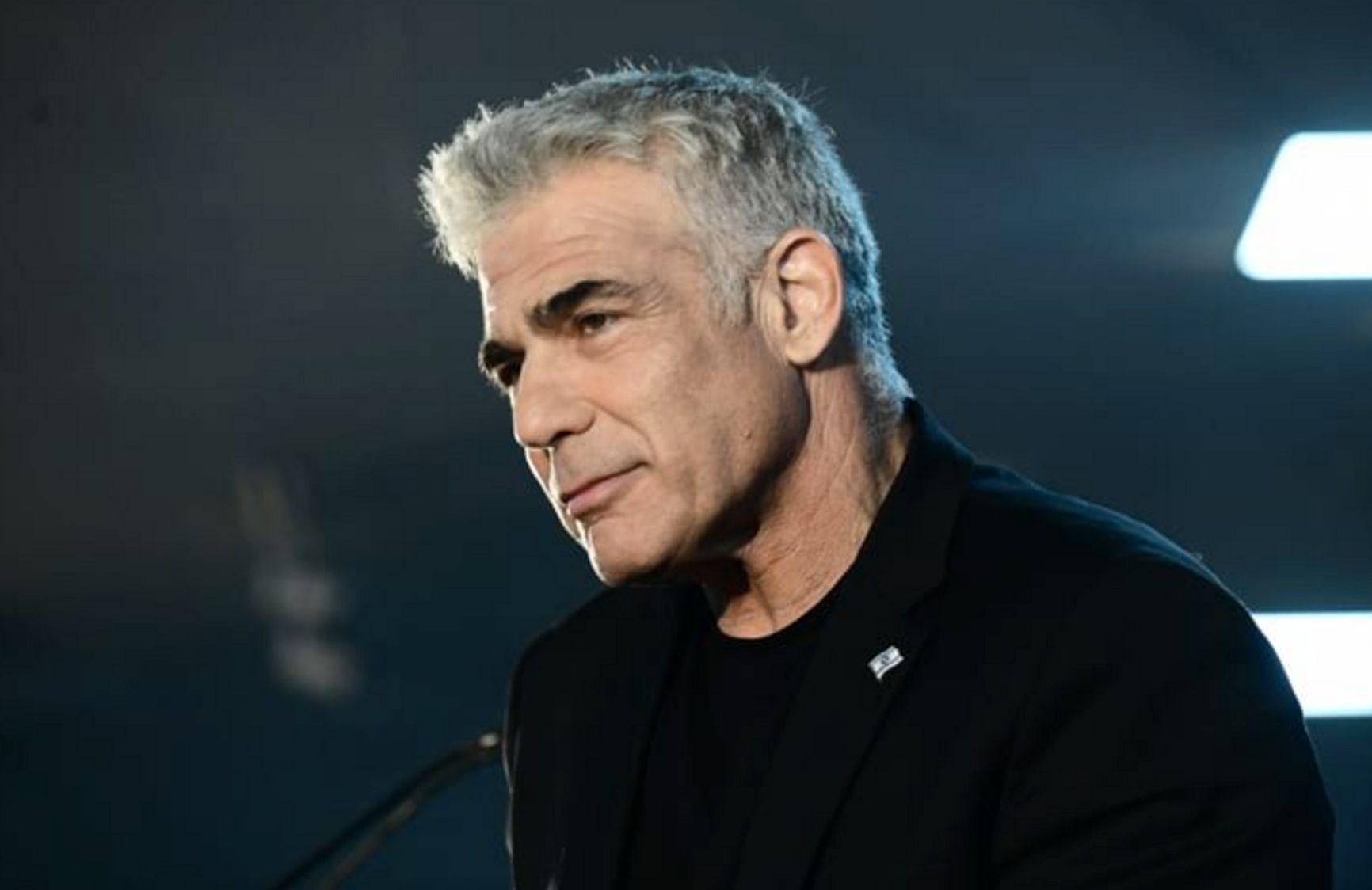"Яир Лапид, лидер партии ""Йеш Атид"" и оппозиции в кнессете"