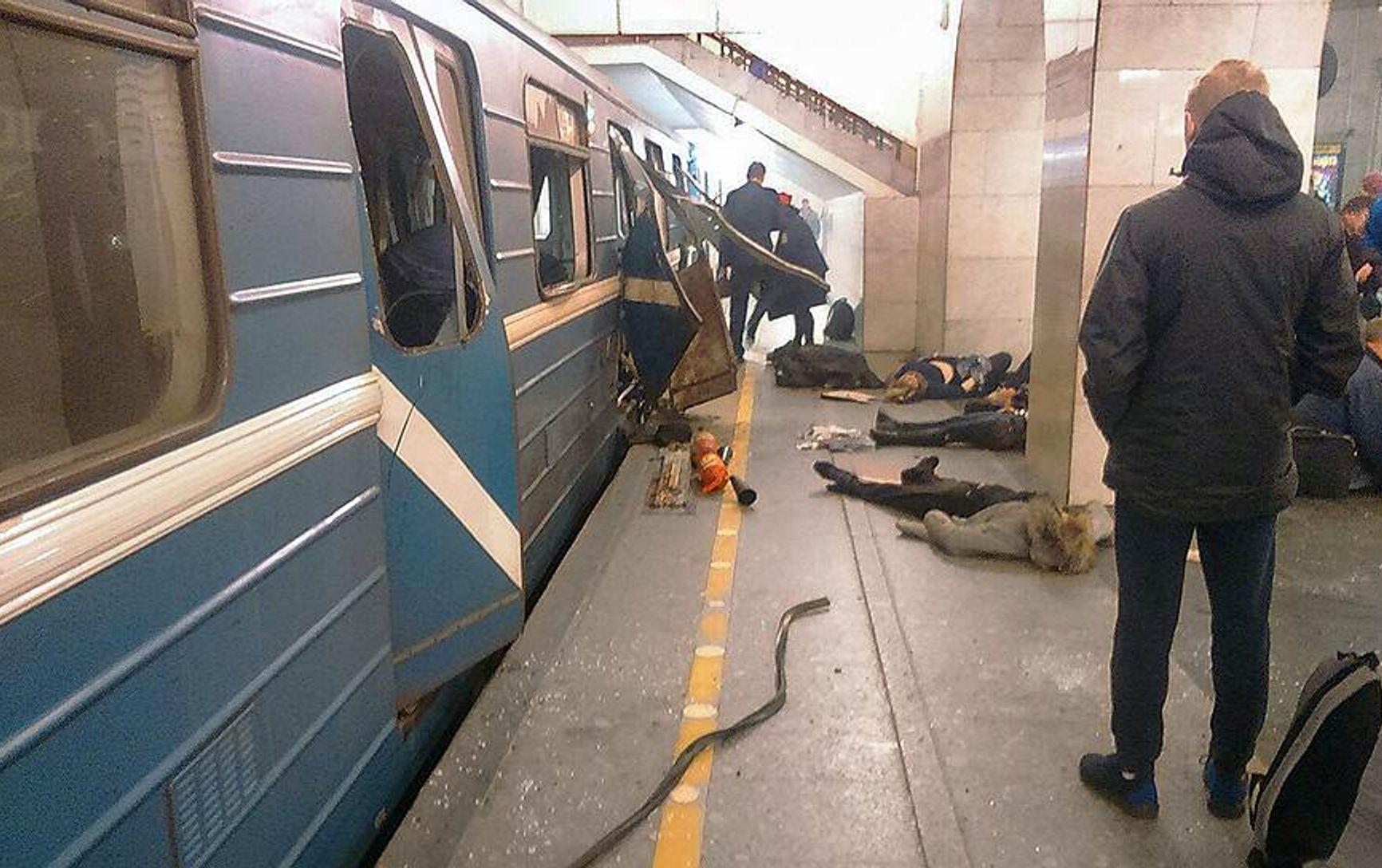 Последствия взрыва в метро в Санкт-Петербурге в 2017 году