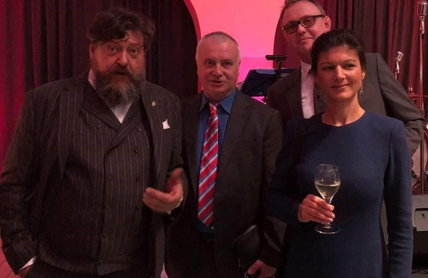 Konstantin Loskutnikov (Bossner), Alexander Rahr, and Sahra Wagenknecht (Die Linke)