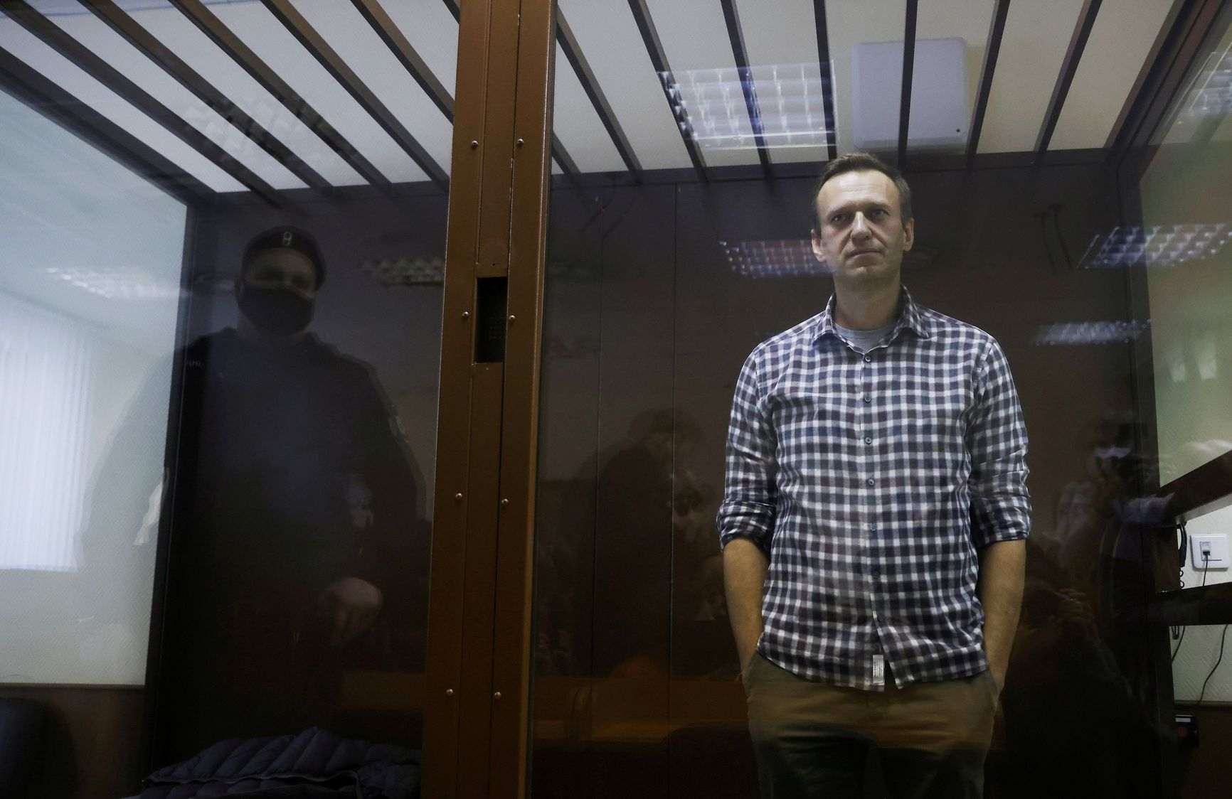 Opposition leader Alexey Navalny is held in prison since January