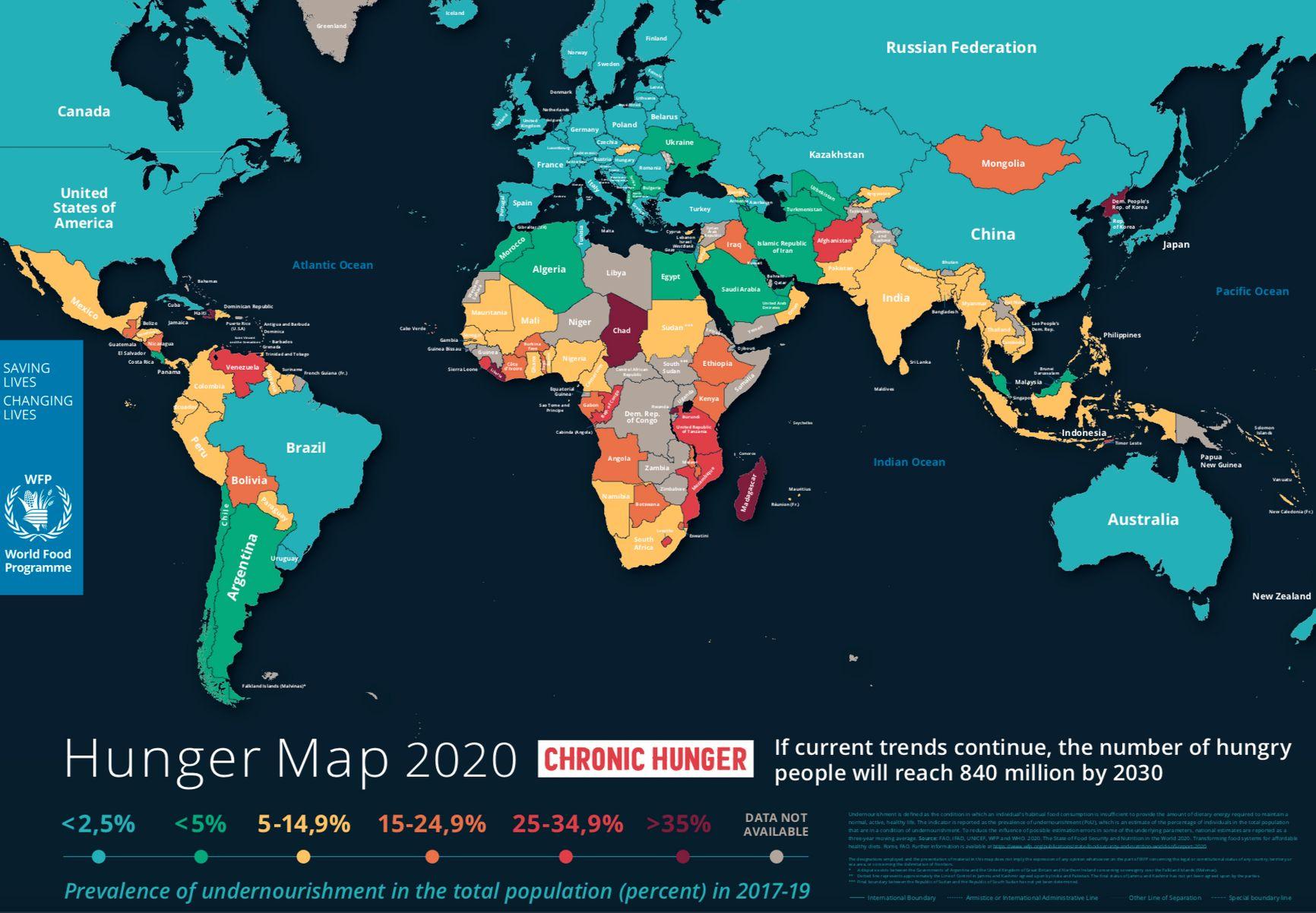 Рис. 4  Голод - 2020: если тенденция сохранится, количество голодающих к 2030 году достигнет 840 миллионов