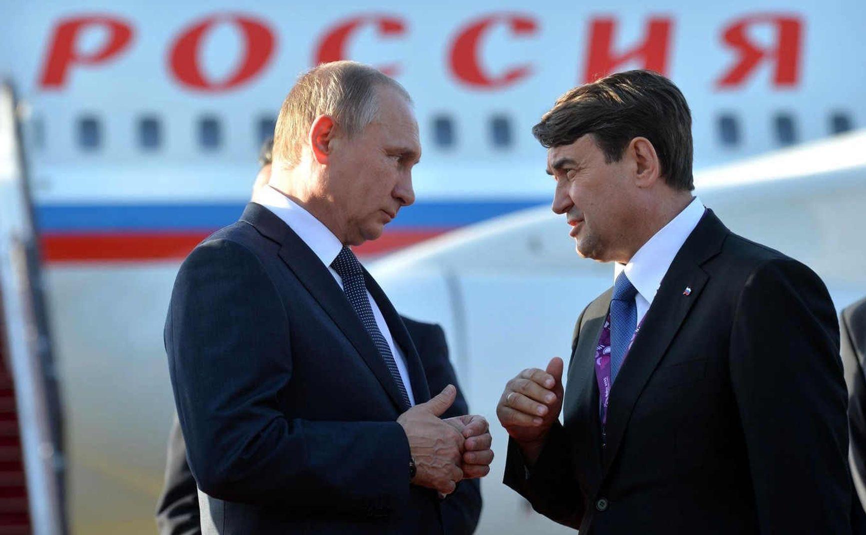 Владимир Путин и Игорь Левитин