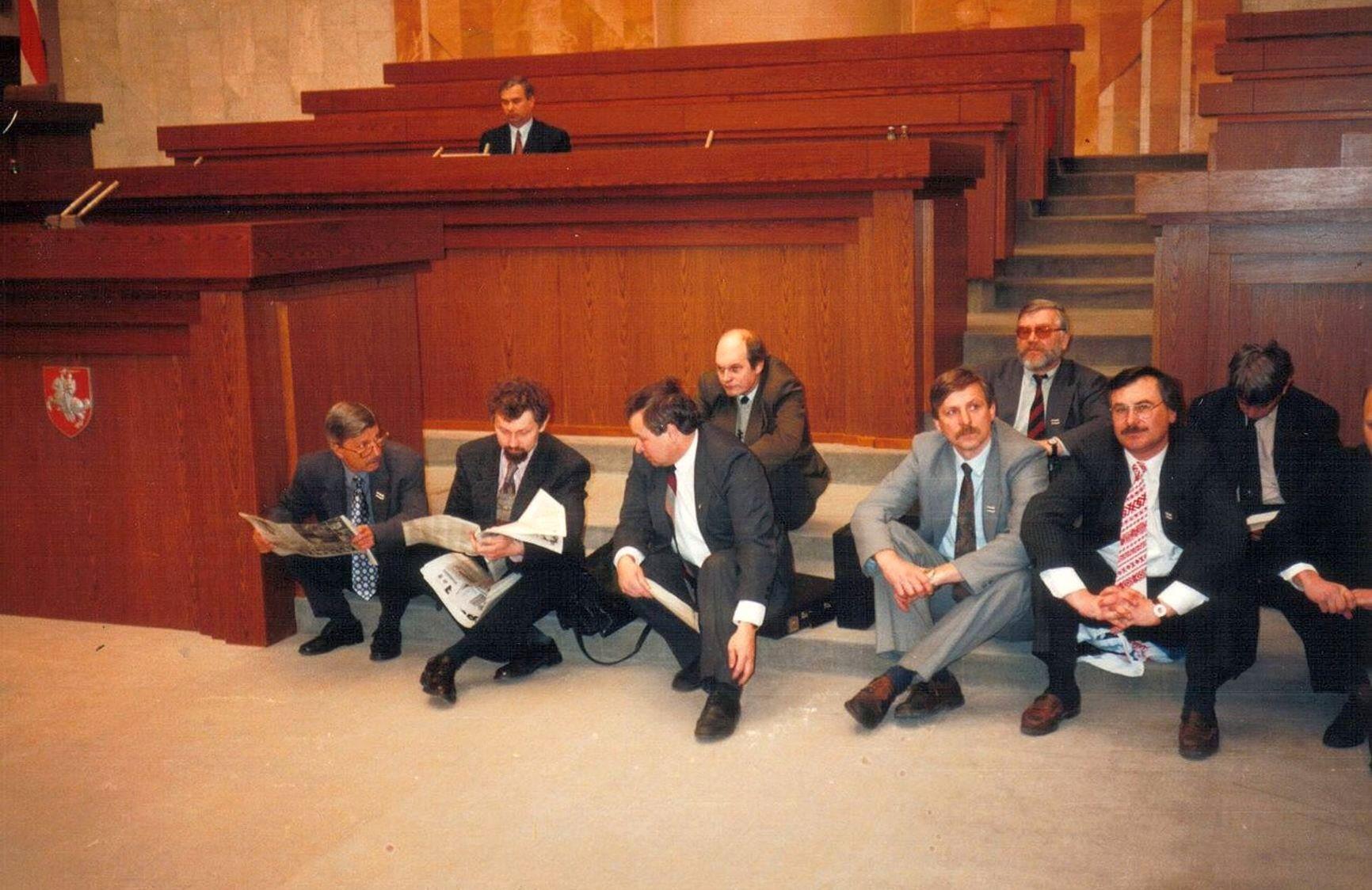 Голодающие депутаты в Верховном Совете Республики Беларусь, 11.04.1995