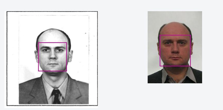Слева - паспортное фото Андрея Сазонцева, справа - визовое фото