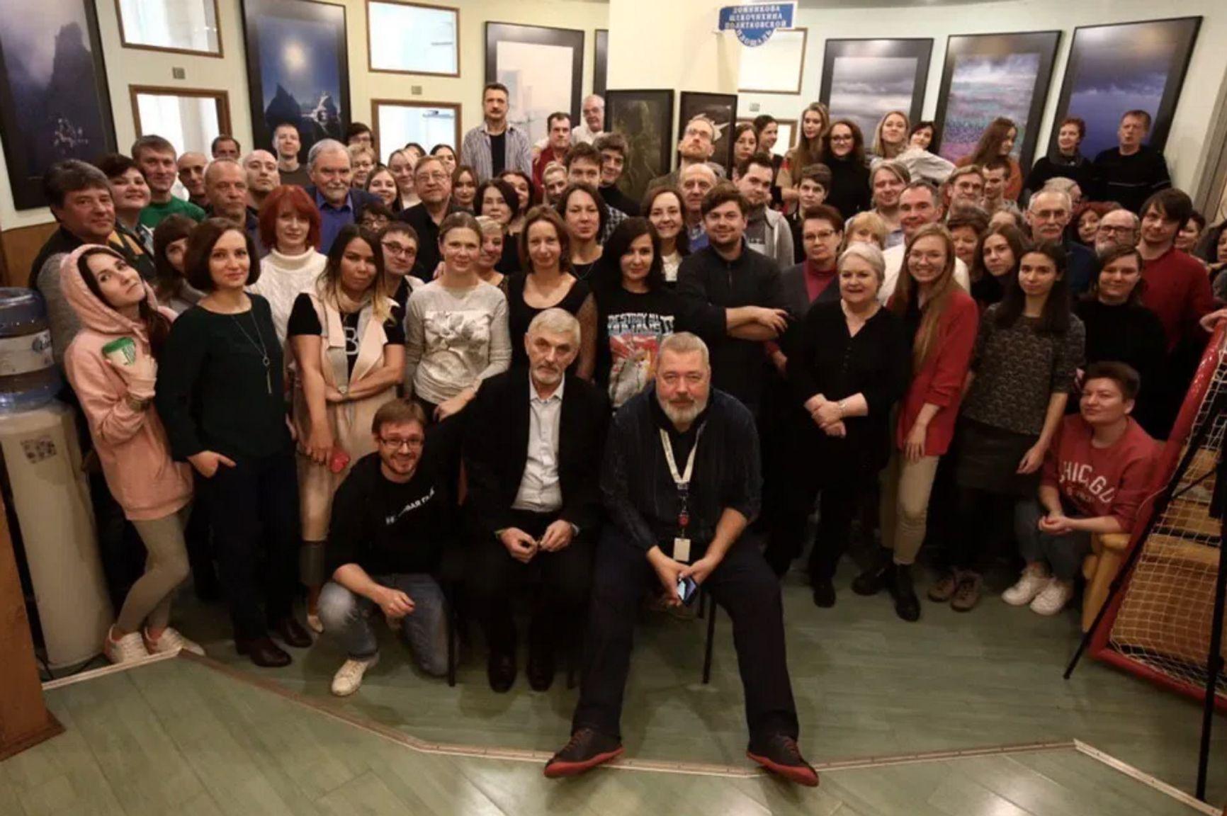 """Muratov and the team of """"Novaya Gazeta"""""""