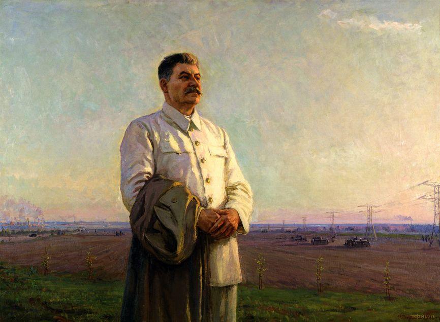 """Картина """"Утро нашей Родины"""" (1946-48 гг.), за которую Федор Шурпин был удостоен Сталинской премии"""
