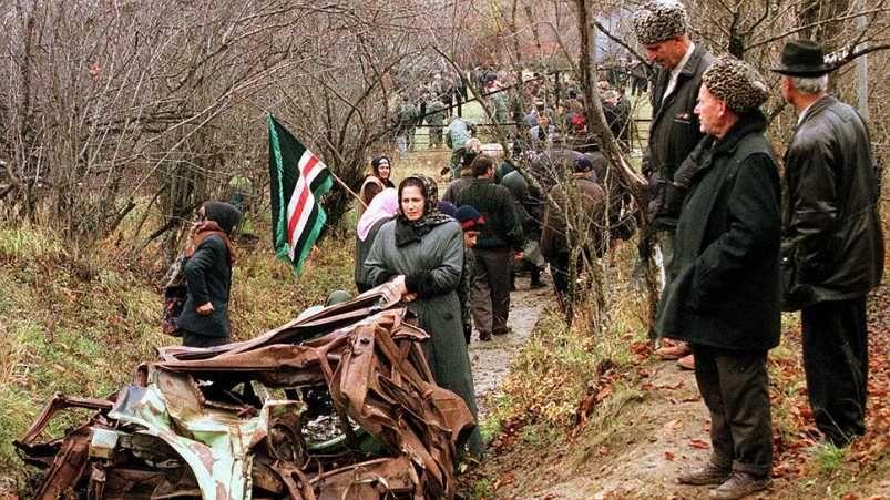 Место гибели Дудаева под селом Гехи-Чу