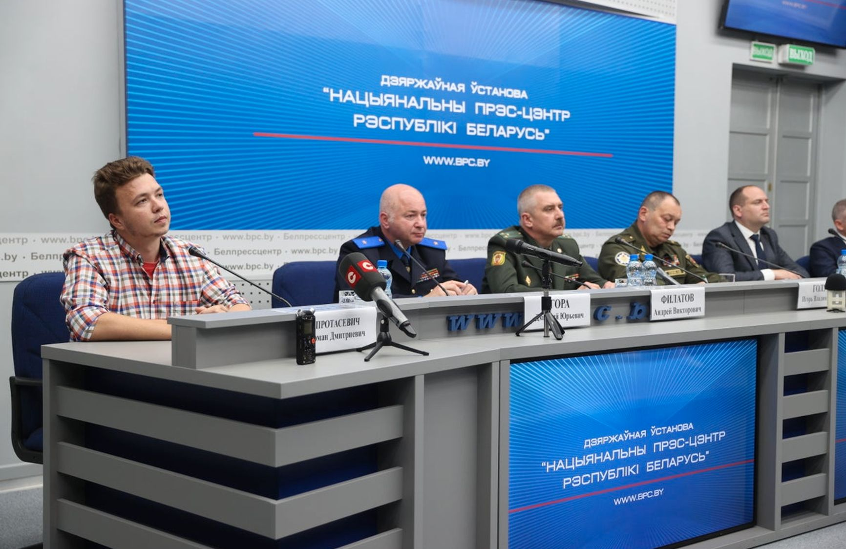 'Hostage' Protasevich tells reporters: 'Nobody beat me' at the governmental press-conference