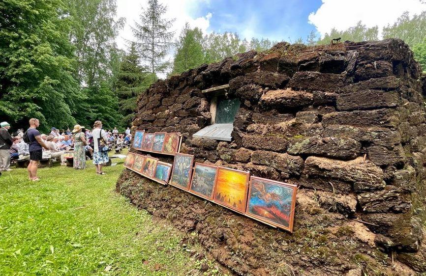 Образец юрты, построенной ссыльными литовцами у моря Лаптевых. Музей народного быта в Румшишкес (Литва)