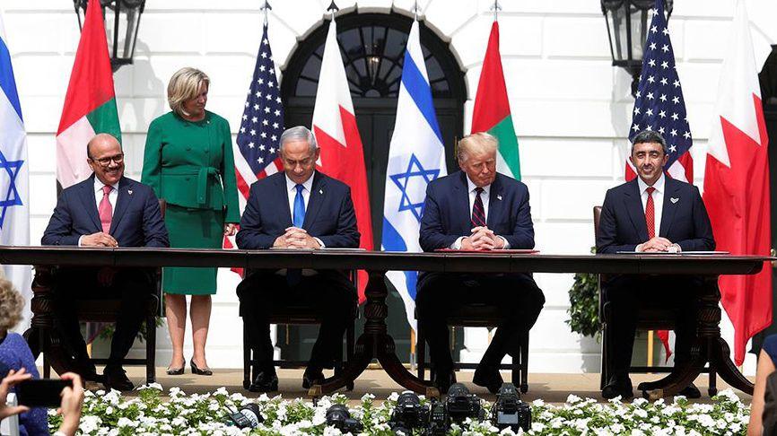 """Церемония подписания """"Авраамовых соглашений"""" в Белом доме 15 сентября 2020 года"""