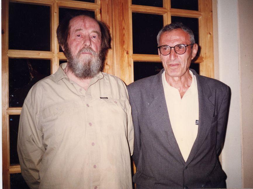 Иосиф Дядькин с Александром Солженицыным