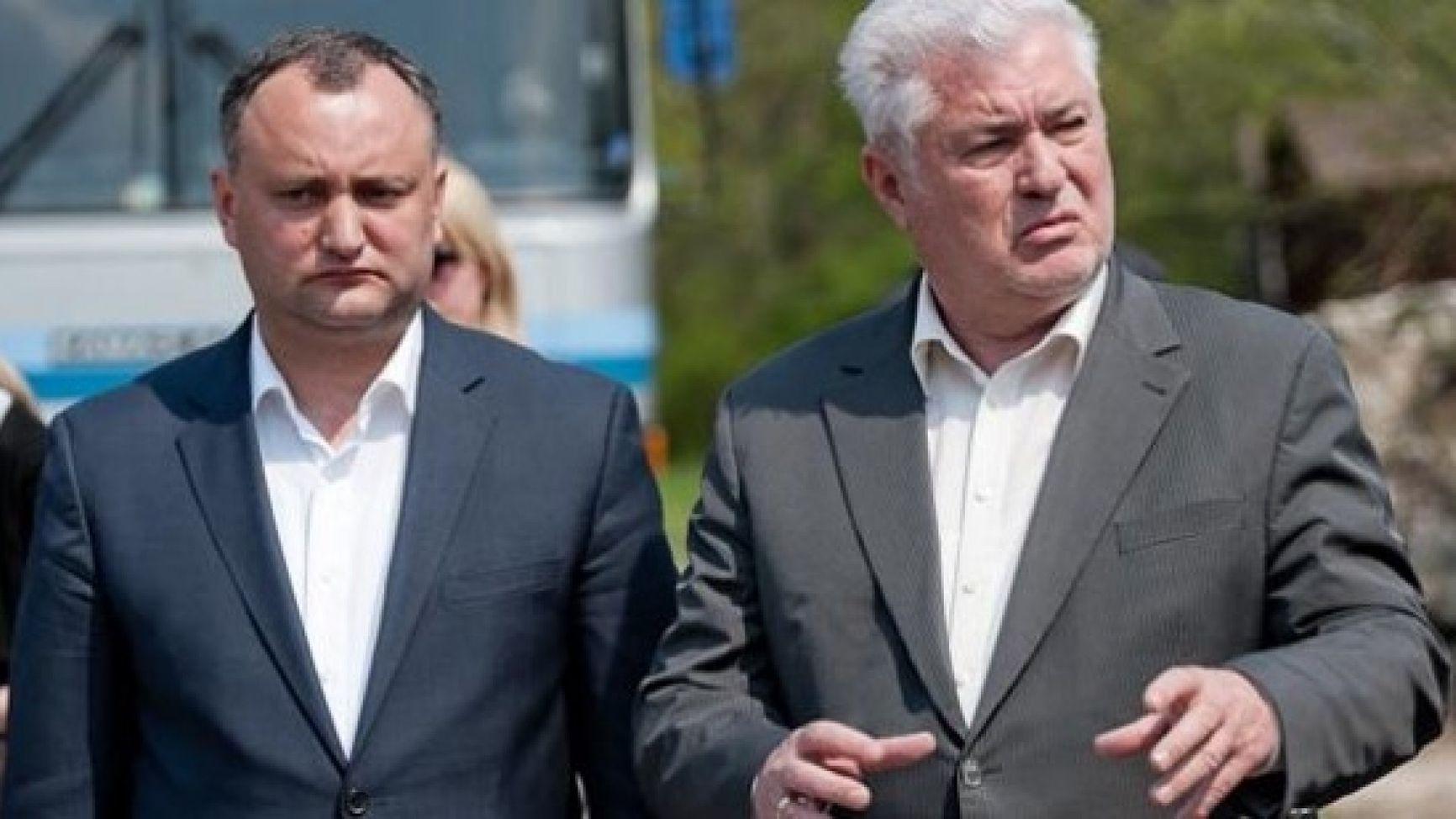 Игорь Додон и Владимир Воронин