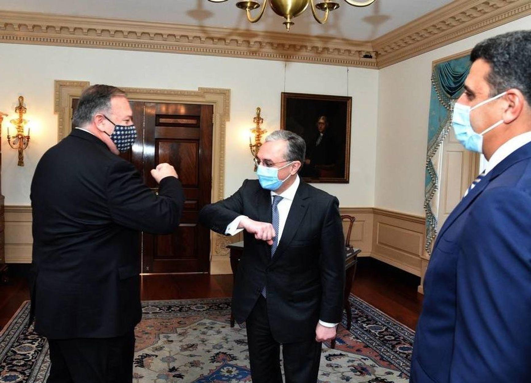 23 октября:  встреча министров иностранных дел Армении и Азербайджана с госсекретарем США Майком Помпео