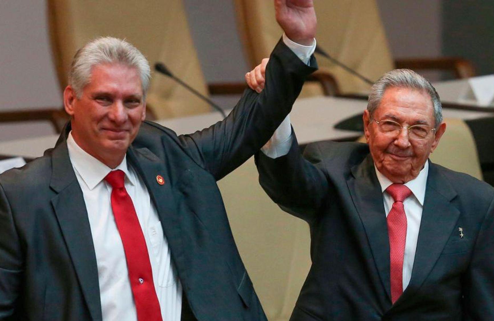Диас-Канель и Рауль Кастро